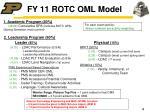 fy 11 rotc oml model