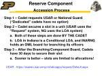 reserve component accession process