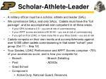 scholar athlete leader
