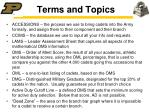 terms and topics