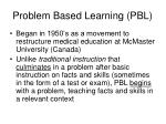 problem based learning pbl