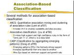 association based classification