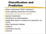 classification and prediction11