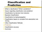 classification and prediction57