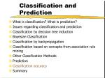 classification and prediction63