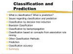 classification and prediction67