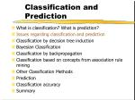 classification and prediction8