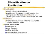classification vs prediction