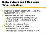 data cube based decision tree induction