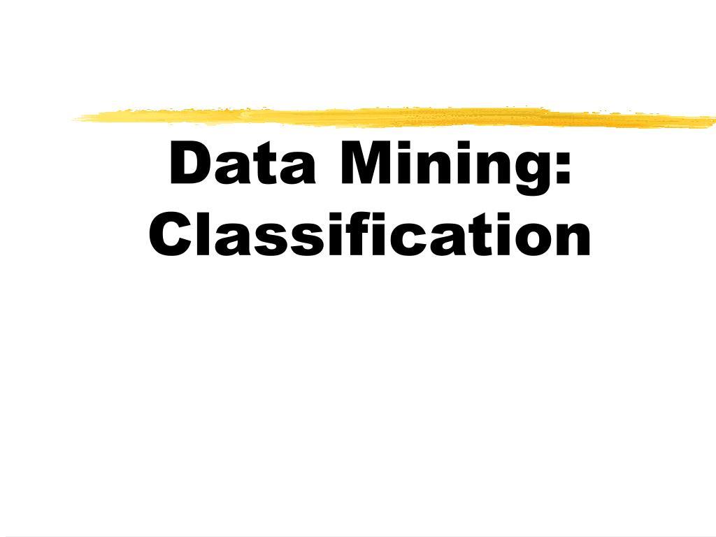 data mining classification l.