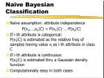 na ve bayesian classification