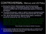 controversial mercury and us policy