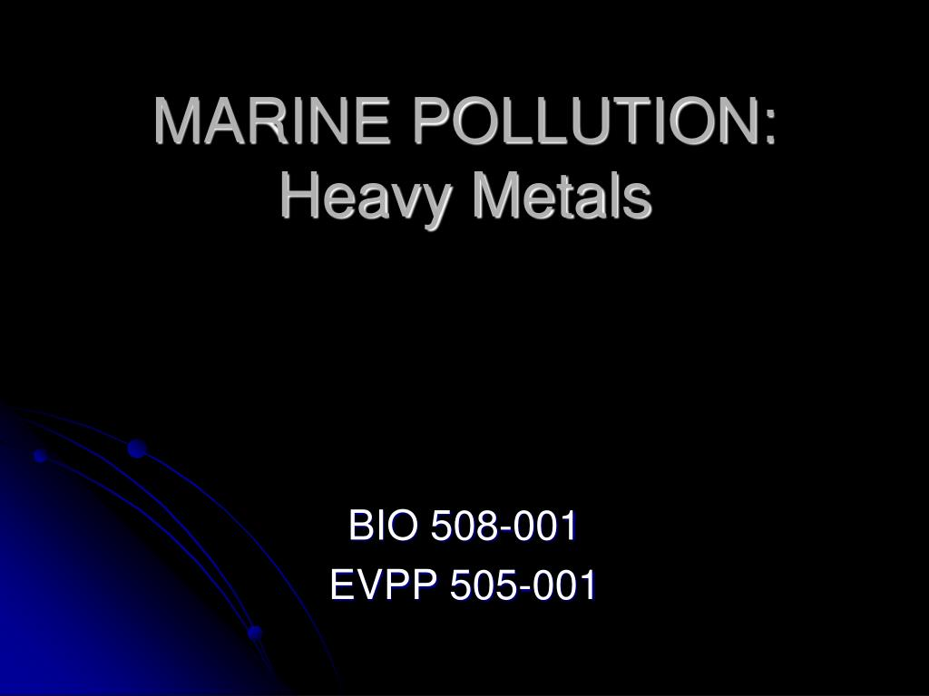 marine pollution heavy metals l.