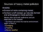 sources of heavy metal pollution15