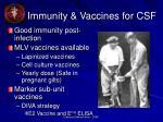 immunity vaccines for csf