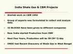 india shale gas cbm projects