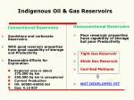 indigenous oil gas reservoirs