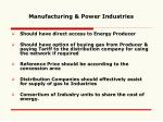 manufacturing power industries