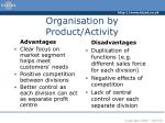 organisation by product activity