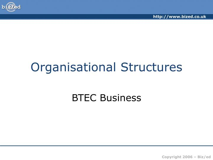 organisational structures n.