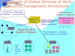 an example of globus services at work resource management architecture