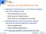 globus and the national grid
