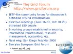 the grid forum http www gridforum org
