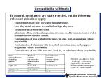compatibility of metals