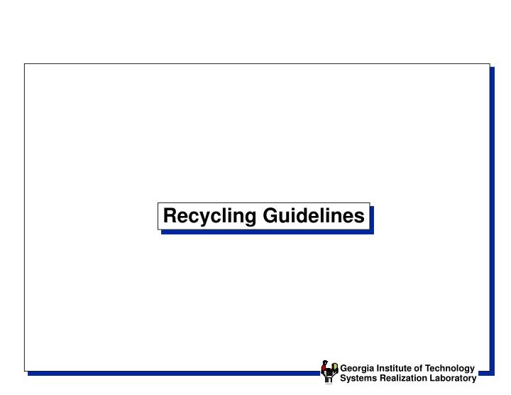 recycling guidelines n.