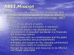 abet mission