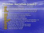 member societies cont