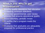 what is and why to get accreditation