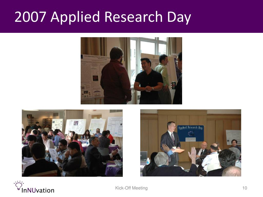 2007 Applied Research Day