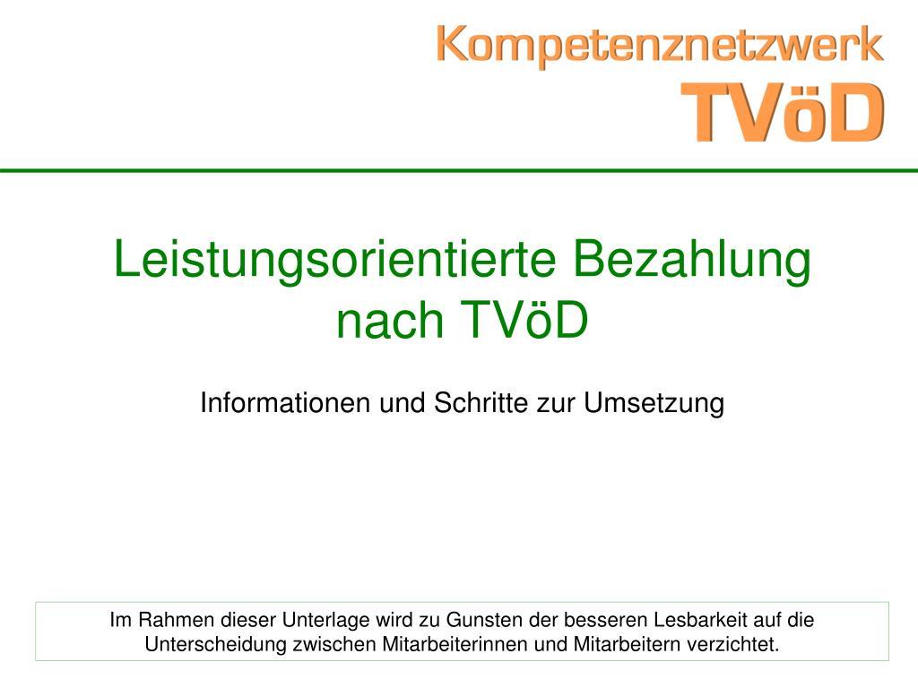 leistungsorientierte bezahlung nach tv d l.