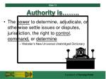 authority is