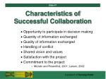 characteristics of successful collaboration