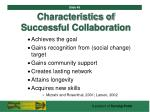 characteristics of successful collaboration48