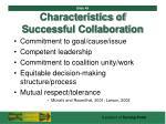 characteristics of successful collaboration49