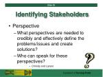 identifying stakeholders