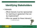 identifying stakeholders36