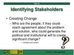 identifying stakeholders39