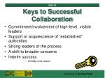 keys to successful collaboration46