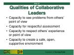 qualities of collaborative leaders53
