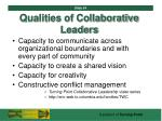 qualities of collaborative leaders54