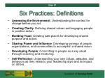 six practices definitions