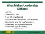 what makes leadership difficult34