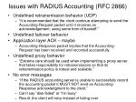 issues with radius accounting rfc 2866