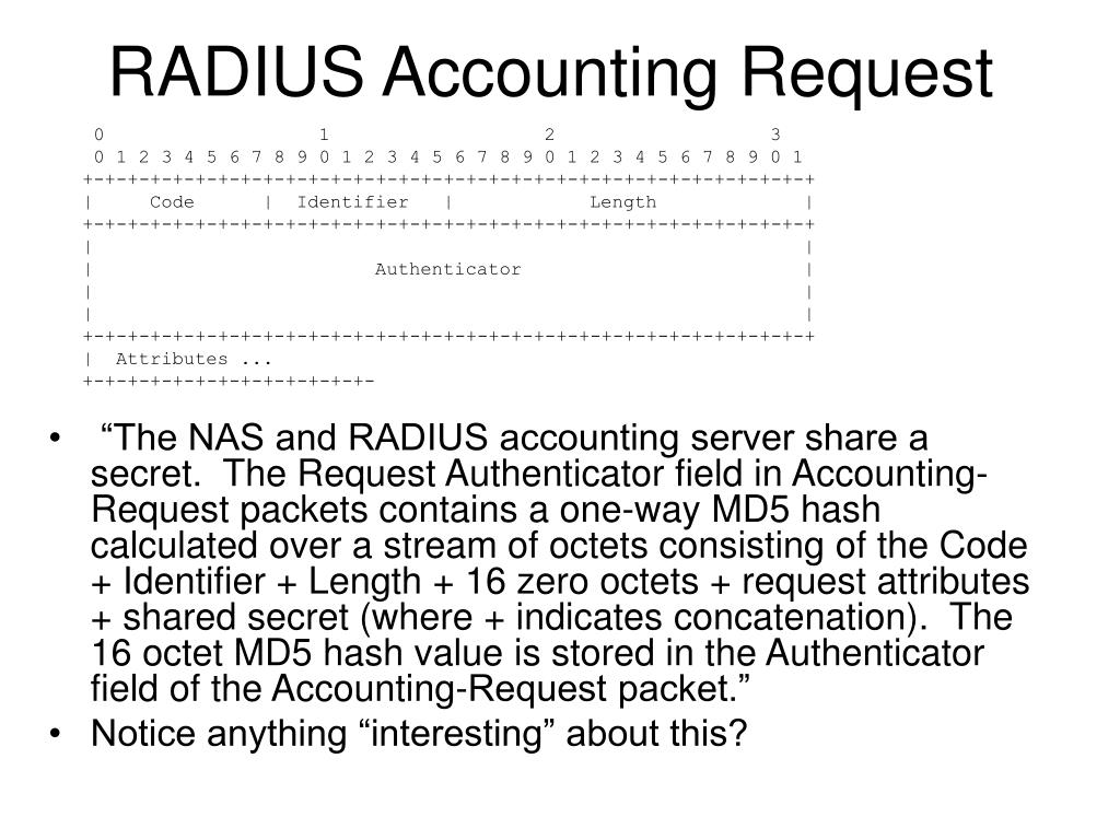 RADIUS Accounting Request