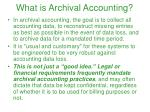 what is archival accounting