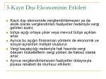 3 kay t d ekonominin etkileri